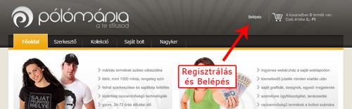 regisztrálás